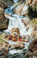 """The Roar of the Falls"" Frank McCarthy Limited Edition Western Art Print"