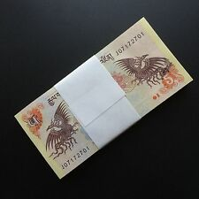 Bundle 100 PCS,  Bhutan 5 Ngultrum, P-28, 2006-2013, UNC, Lot Pack