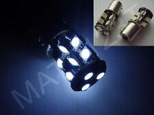 2 x 6W 19 SMD white canbus LED bulbs bayonet P21W 1156 BA15S 382 reverse fog