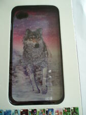 3D Picture Plastic Protective Case for iPhone 4 & 4s ( Wolf )