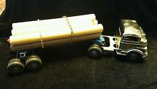 Vintage 1940's or 50's Structo Log Hauler w/ Rare Chrome Truck Cab C-3044 NICE!!
