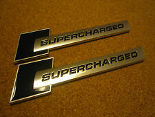 2 X AUDI SUPERCHARGED BLACK & SILVER BADGE S1 S3 S4 S5 RS3 RS4 RS5 RS TT S-LINE