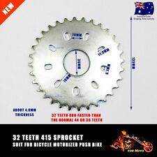 49cc 50cc 66cc 80cc Bicycle Motorized Bike Engine Parts 32T Teeth 415 Sprocket