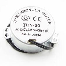 TYC-50 Synchronous Motor AC 12V 50/60Hz 5/6RPM CW/CCW TYC50