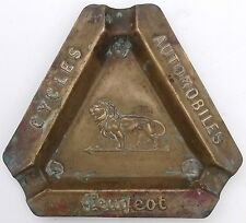 Vintage Peugeot  Cycles Ashtray Bicycle Moto Schwinn Michaux Automobiles Pope