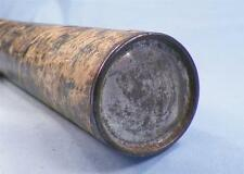 Vintage Document Holder Cylinder Box 3 Parts Tin End Caps Early 1900s Paper Wear