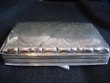 Vintage Solid Silver Cigar Box