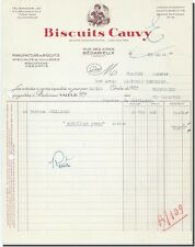 Invoice - Biscuits Cauvy Manufacture biscuits in Bédarieux 1954