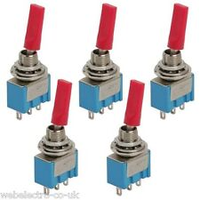09003 Miniature Plastic Flat Lever Toggle Switch SPDT 2 Position ON-ON 3A 250VAC