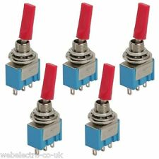 09003 MINIATURA IN PLASTICA PIATTA LEVA Toggle switch SPDT 2 posizioni ON-ON 3A 250VAC