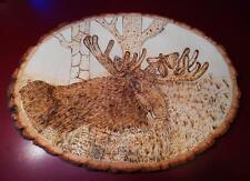 MOOSE IN THE GRASS , Wood burning, AWESOME **SPECIAL** (MOO20151)