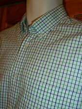 M&S WINDOW PANE CHECK BUTTON DOWN SHIRT MOD SCOOTER NORTHERN SOUL SKINHEAD *