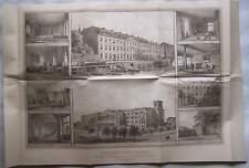 Berlin 1880 Erinnerungsblatt Joachimsthalsches Gymnasium Deutsch Wilmersdorf RP