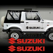 2 Adesivi portiera fuoristrada SUZUKI 4X4 50 cm Santana Samurai Vitara off road