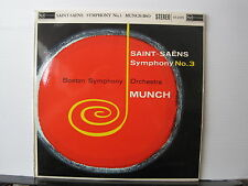 RCA SB-2089 SAINT-SAENS Symphony No 3 MUNCH BOSTON VINYL LP Free UK Post