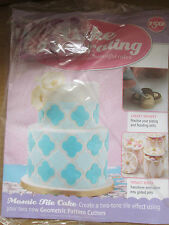 Deagostini Cake Decorating Magazine ISSUE 150 WITH 2 GEOMETRIC PATTERN CUTTERS