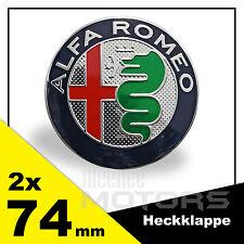 Alfa Romeo Emblem 2x74mm Grill Kühlergrill Motorhaube Heckklappe Badge Neu Logo