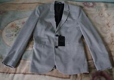 Mens Brand New Zara Blazer In Grey, Size XXL