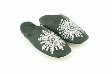 LADIES WOMENS NEW FLAT SUMMER SEQUINS SLIP ON MULES SLIPPERS SANDALS SHOES SIZE
