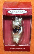 Hallmark Keepsake Li'l Teddy Bear Hand Blown Glass Ornament 2000
