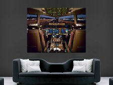 BOEING 777 COCKPIT AEROPLANE  HUGE LARGE WALL ART POSTER PICTURE