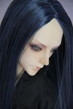 """8-9""""1/3 BJD Doll Hair Wig SD DZ DOD LUTS Multi-color Long Parted In The Middle"""