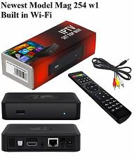 Infomir MAG 254 w1 w/ built in WiFi and FREE 1 Month HD IPTV Trial Subscription