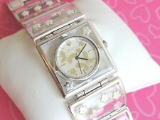Brighton Watch Gainsville Butterfly BUTTERFLIES FLOWERS clear Silver NWT