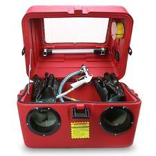 15 Gallons Portable Capacity Abrasive Sandblaster Cabinet Air Gun & Nozzles Set