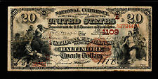 1882 $20 Large Size National Fr494 Charter Baltimore