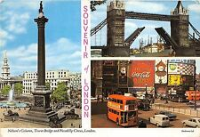 B87210 nelson s column tower bridge picadilly circus london double decker bus uk
