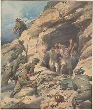 K0895 Bersaglieri catturano soldati inglesi in una caverna di Sollum - Stampa