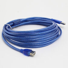 LUXURY Blue 5M USB 2.0 Male to Female Extend Extention Cable ON