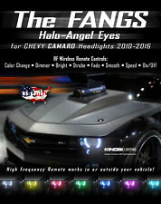 Chevy Camaro FANGS MultiColor LED Halo-Angel Eyes Rings kit and RF REMOTE