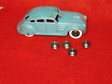 Dinky Toy Pre-War Smooth Wheel Hubs, Steel, Lot of 4