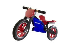 Kiddimoto Superbike Wooden cycle balance bike no pedals running bicycle trainer