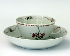 Antique 18th Century Chinese Export Porcelain Famille Rose Cup & Saucer