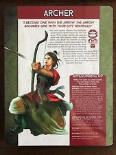 Feng Shui 2 Role-Playing Game: Kickstarter Exclusive - Archetype Sheets *NEW*