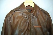 RALPH LAUREN POLO  W.D. PETRELLA  DRWING TYPE A-2 LEATHER FLIGHT MEN JACKET  S