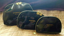 CHANEL SET OF 3 MAKE UP/COSMETIC TRAVEL BAGS