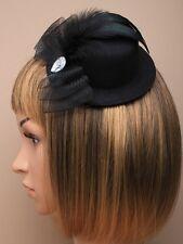 HAT FASCINATOR WEDDING FLOWER hatinator clip feather 5242 hair head funeral n