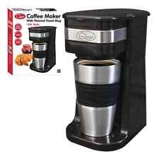700W QUEST PORTABLE COFFEE MAKER WITH 420ML S/S THERMAL TRAVEL MUG HOT CHOCOLATE