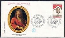 FRANCE FDC - 863 1771 1 MOLIERE PARIS 20 10 1973