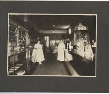 1910 Photo of Candy Shop and Soda Fountain w/ Large Coca Cola Stand Up Sign