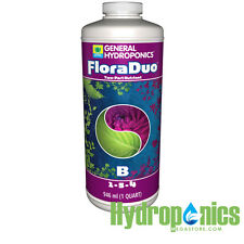 General Hydroponics Floraduo B - 1 Quart 32oz GH Flora Duo Bloom Flower Nutrient