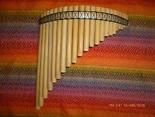 UNIQUE PROFESSIONAL  AYMARA PAN FLUTE 22 PIPES  BAMBOO NATURAL  SEE VIDEO