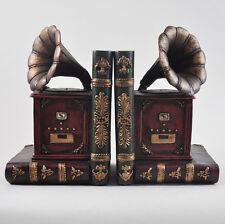 VECCHIO Grammophone REGGILIBRI MUSICA Scaffale Organizzatore CD DVD ART DECO Studio NUOVO 12506
