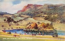 BELFAST IRELAND BELLEVUE~POND-CAVE HILL~WATER COLOUR~E W TRICK ARTIST POSTCARD