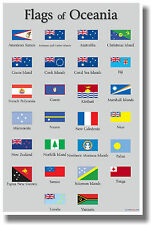 Flags of Oceania - NEW World Travel Poster