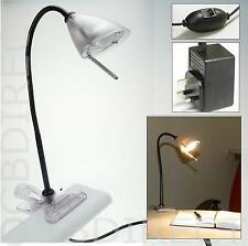 Halogen Clip On Lamps Lights Flexible Desk Home Office